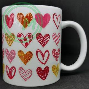 Hearts Pattern Mug Style 9 Pic 2