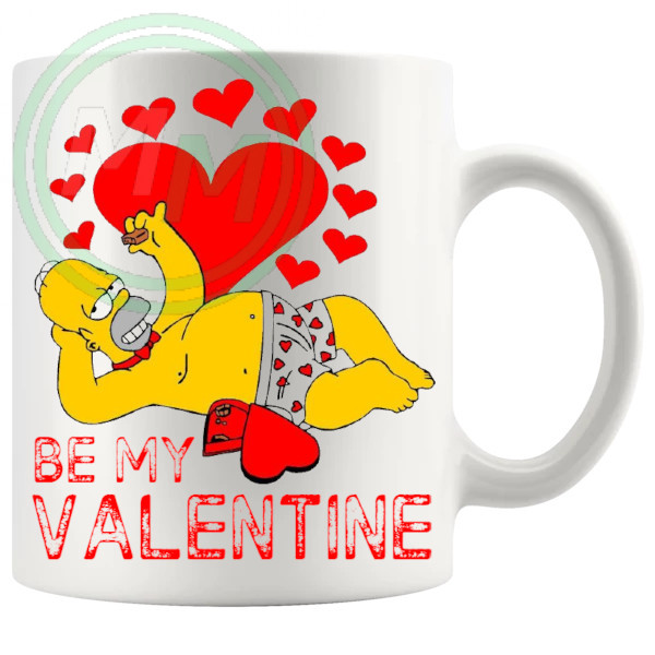 Homer Be My Valentine Mug