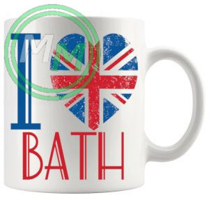 I LOVE BATH MUG