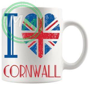 I Love Cornwall Mug