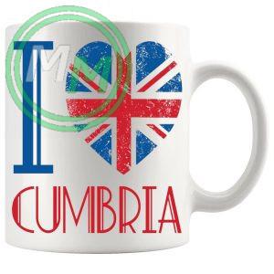 I Love Cumbria Mug