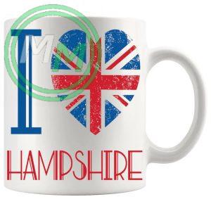I Love Hampshire Mug