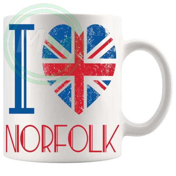 I Love Norfolk Mug