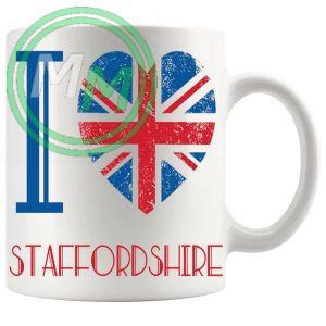 I Love Staffordshire Mug