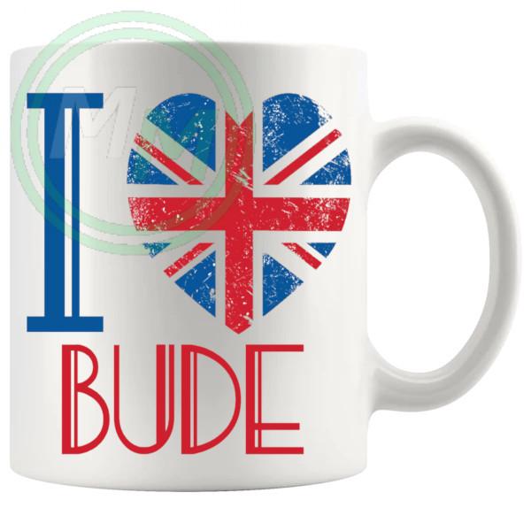 I Love Bude Mug