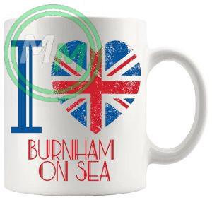 I Love Burnham on Sea Mug