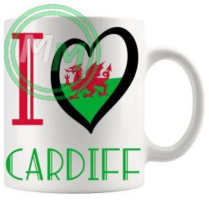 I Love Cardiff Mug