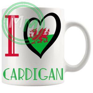 I Love Cardigan Mug