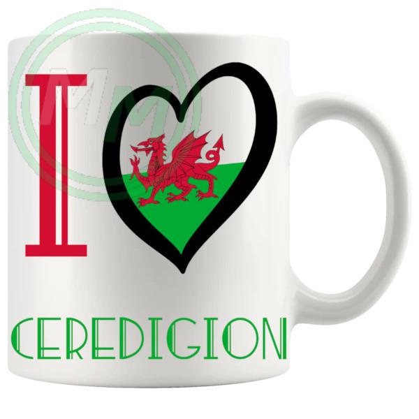 I Love Ceredigion Mug