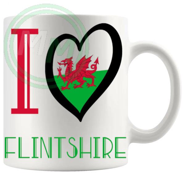I Love Flintshire Mug