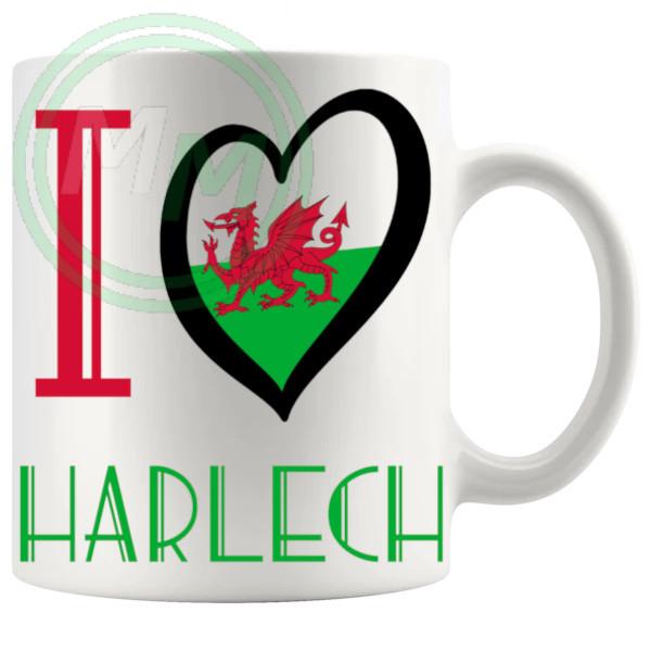 I Love Harlech Mug