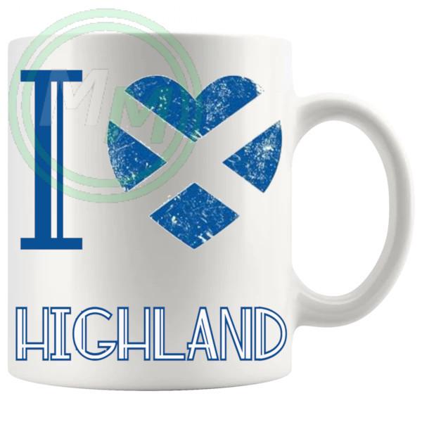 I Love Highland Mug