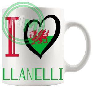 I Love Llanelli Mug