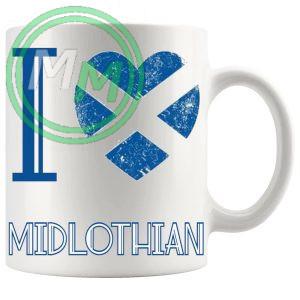 I Love Midlothian Mug