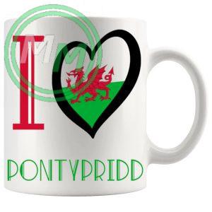 I Love Pontypridd Mug