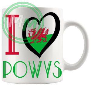 I Love Powys Mug