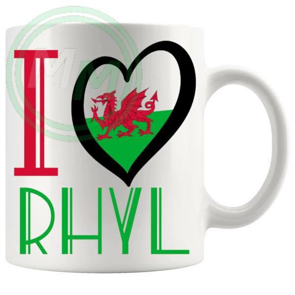 I Love Rhyl Mug