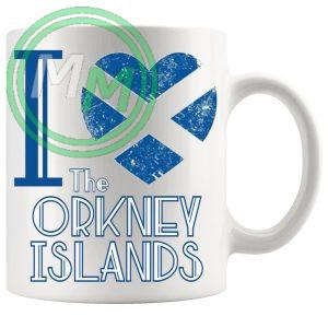 I Love The Orkney Islands Mug