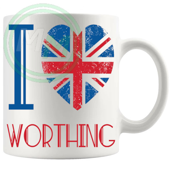 I Love Worthing Mug