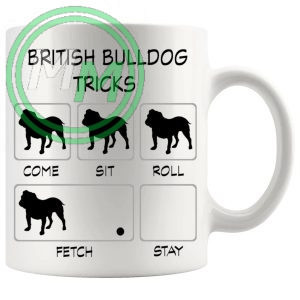 British Bulldog Tricks Mug