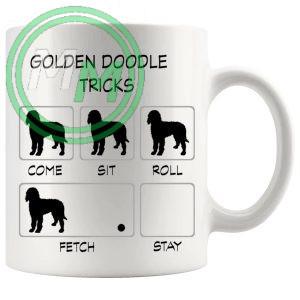 Golden Doodle Tricks Mug