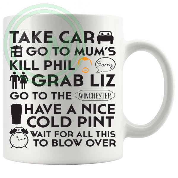 Shaun Of The dead The Winchester Plan Mug Style 2
