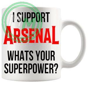 arsenal fans superpower mug