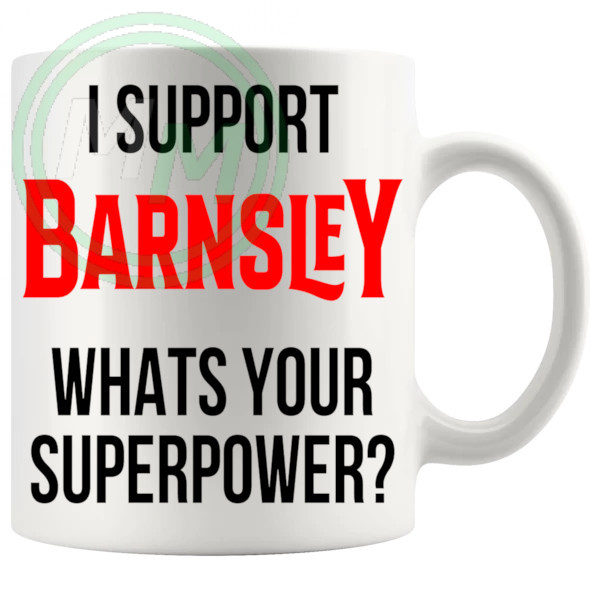 barnsley fans superpower mug