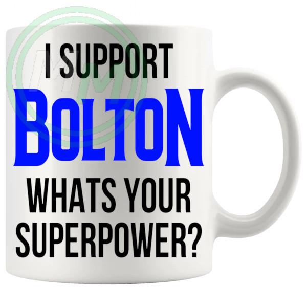 bolton fans superpower mug