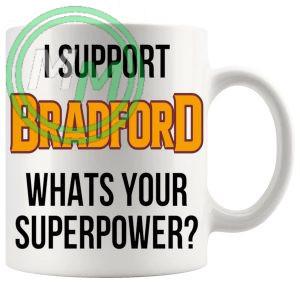 bradford fans superpower mug