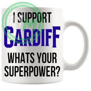 cardiff fans superpower mug