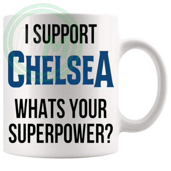 chelsea fans superpower mug