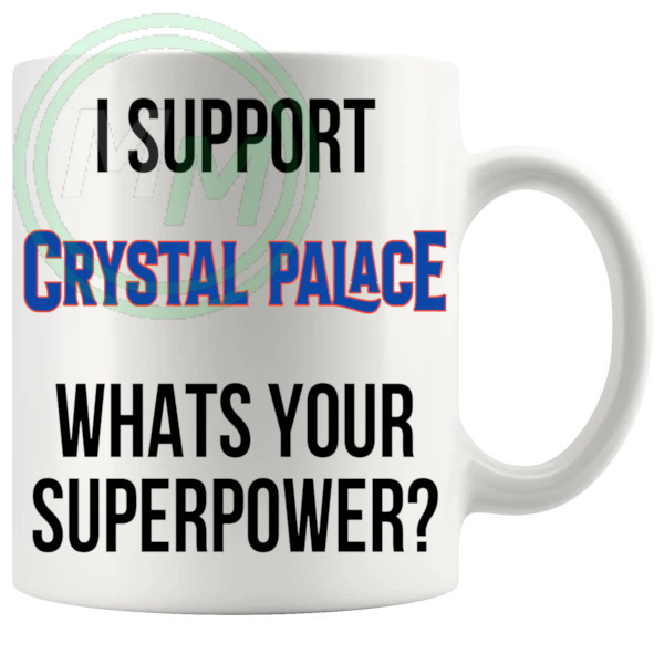 crystal palace fans superpower mug