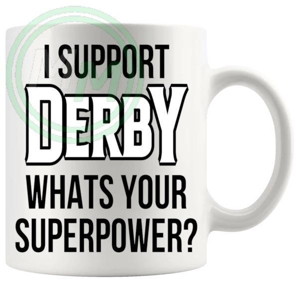 derby fans superpower mug