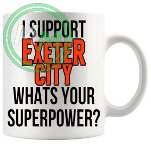exeter city fans superpower mug