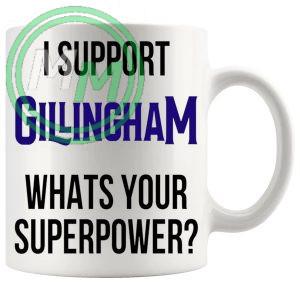 gillingham fans superpower mug