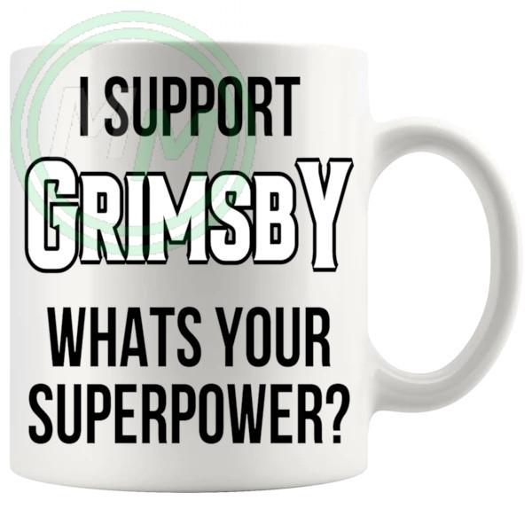 grimsby fans superpower mug