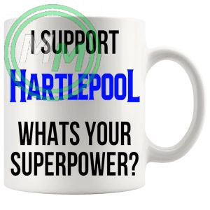 hartlepool fans superpower mug
