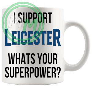 leicester fans superpower mug