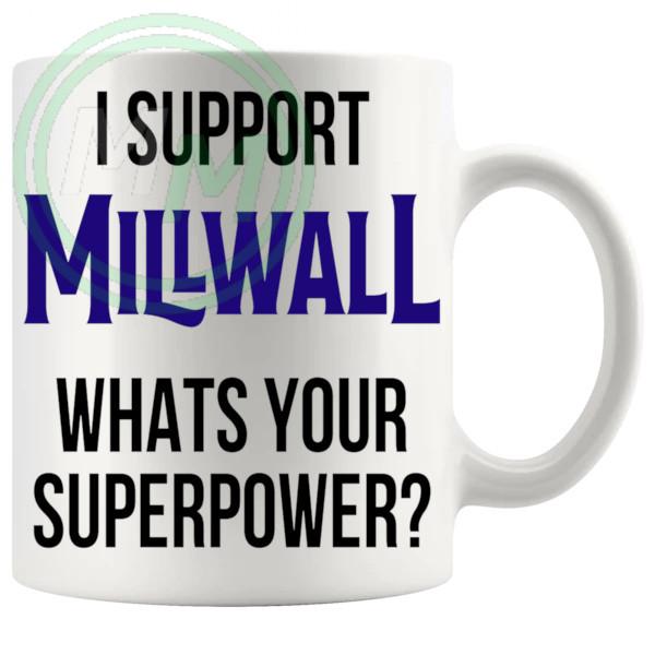 millwall fans superpower mug