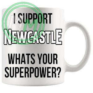 newcastle fans superpower mug