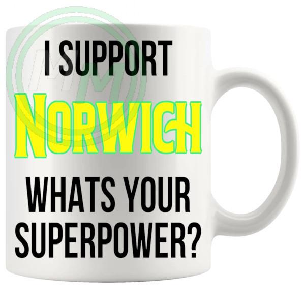 norwich fans superpower mug
