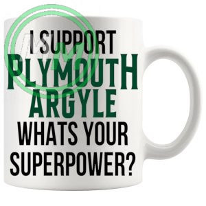 plymouth argyle fans superpower mug