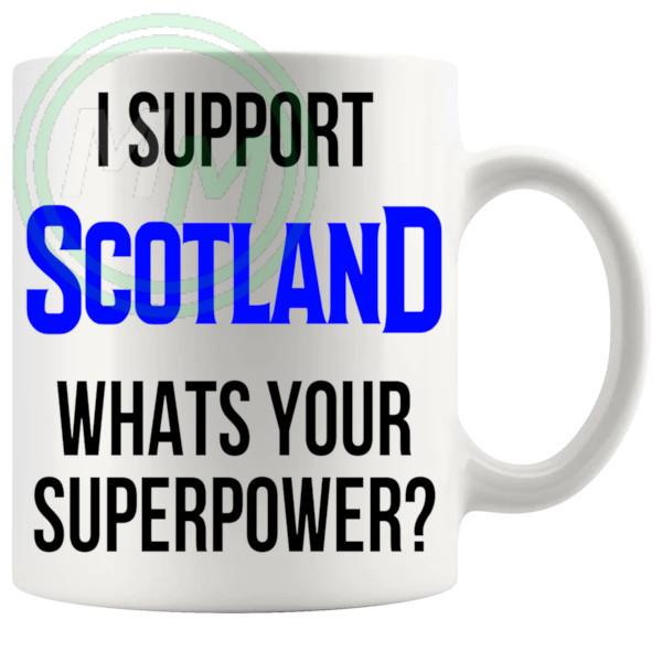 scotland fans superpower mug