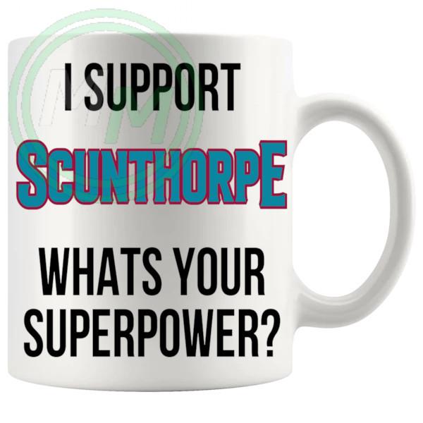 scunthorpe fans superpower mug