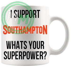 southampton fans superpower mug