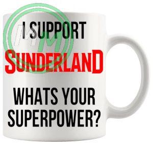 sunderland fans superpower mug