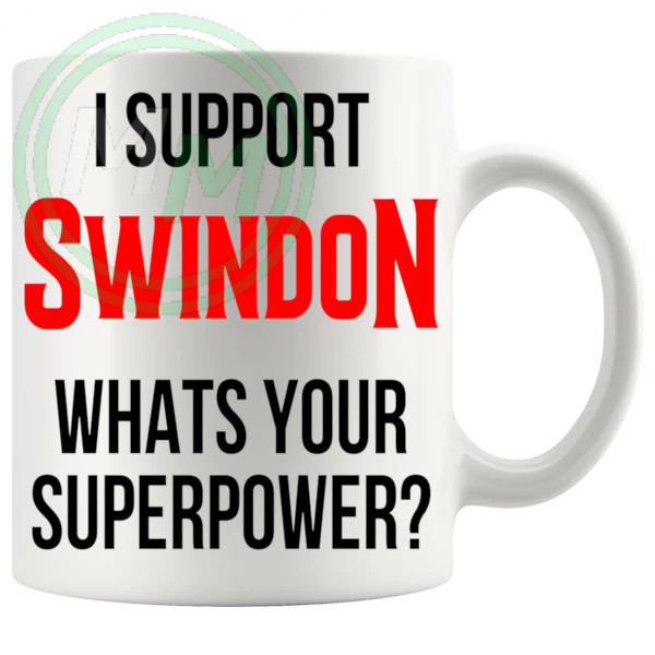 swindon fans superpower mug
