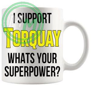 torquay fans superpower mug