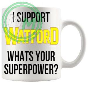 watford fans superpower mug